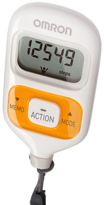 Omron HJ-203 шагомер, OrangeУТ000000322Шагомер OMRON Walking Style III HJ-203 - cтильный, удобный, функциональный шагомер с двумя датчиками, что позволяет носить прибор в сумке, кармане, повесить на шею или ремень и получать более точные результаты. Функции расчета числа шагов, пройденного расстояния, потраченных калорий, сожженного за день жира помогут отследить Вам изменения состояния своего организма, понять сколько Вам не хватило до суточной нормы (10000 шагов). Шагомер OMRON Walking Style III HJ-203 - настраивается индивидуально под Вас: Вы вводите данные о своем весе и длине шага, которые хранятся в памяти прибора. Шагомер OMRON Walking Style III запоминает показания в течении 7 дней. Таким образом Вы можете оценить изменения в вашем организме, произошедшие за неделю.