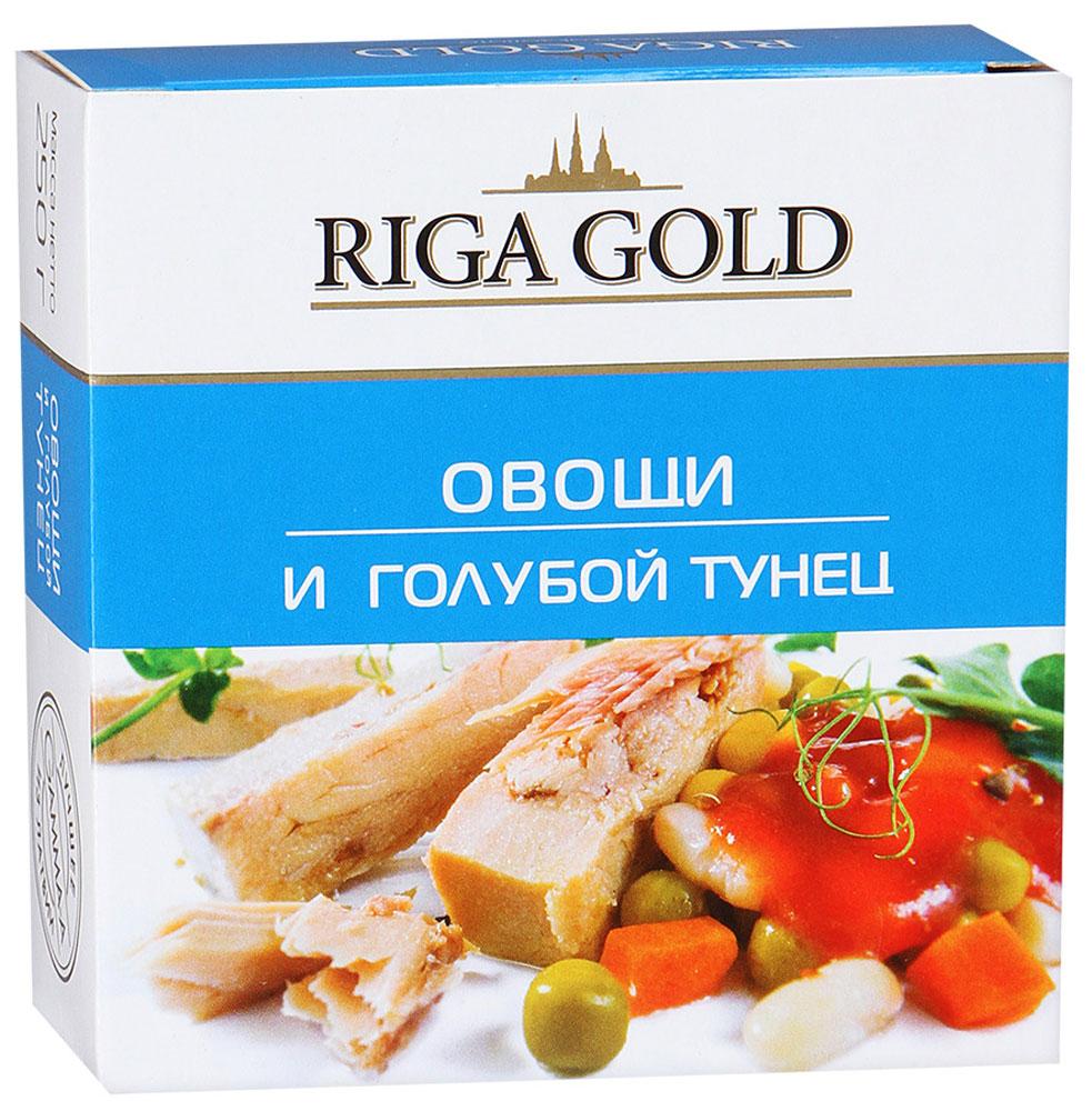 Рижское золото овощи и голубой тунец, 250 г рыба