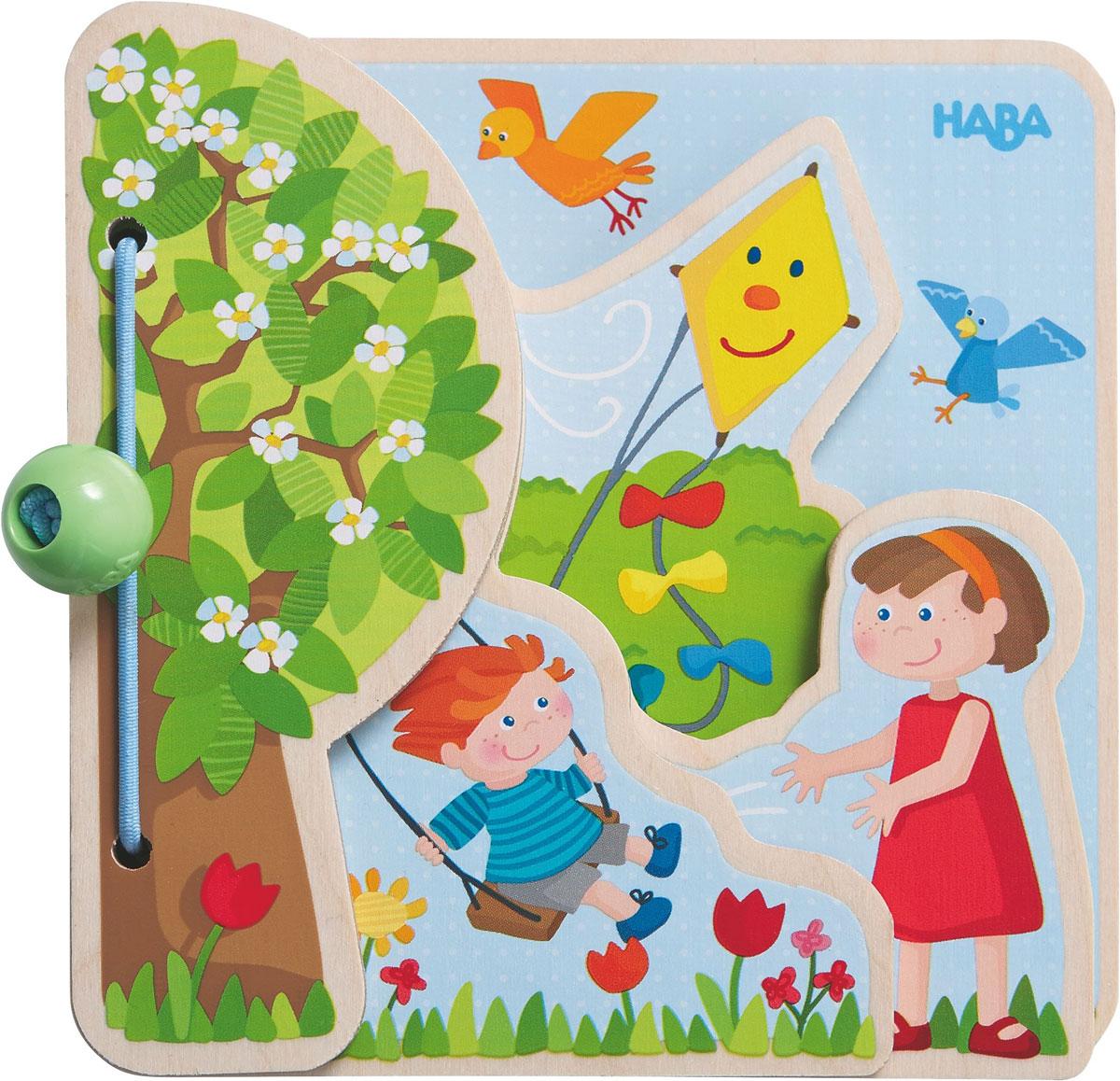 Haba Обучающая игра Детская книга Четыре сезона haba вешалка крючок haba бабочка фани арт 8598