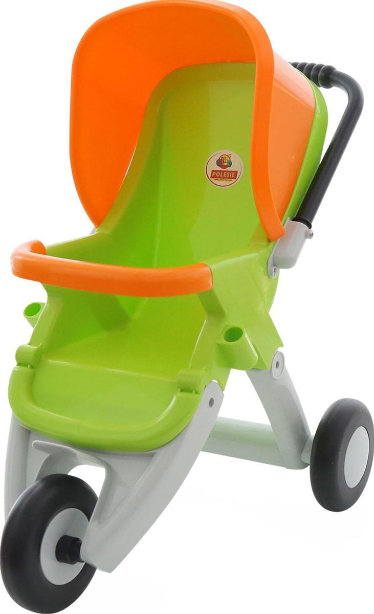 Полесье Коляска для кукол прогулочная трехколесная цвет зеленый оранжевый коляска для кукол smoby прогулочная baby nurse