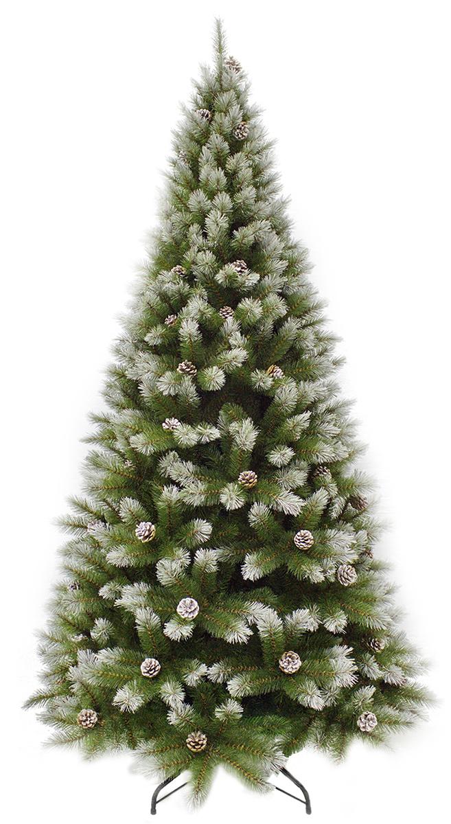 Ель искусственная Triumph Tree Женева, с шишками, цвет: зеленый, высота 185 см73118 (1028916)Искусственная ель Triumph Tree Женева - прекрасный вариант для оформления вашего интерьера к Новому году. Такие деревья абсолютно безопасны, удобны в сборке и не занимают много места при хранении. Ель состоит из верхушки, сборного ствола и устойчивой подставки. В комплекте имеются шишки с проволокой, которые можно прикрепить на ветки. Ель быстро и легко устанавливается и имеет естественный и абсолютно натуральный вид, отличающийся от своих прототипов разве что совершенством форм и мягкостью иголок.Еловые иголочки не осыпаются, не мнутся и не выцветают со временем. Полимерные материалы, из которых они изготовлены, нетоксичны и не поддаются горению. Ель Triumph Tree Женева обязательно создаст настроение волшебства и уюта, а также станет прекрасным украшением дома на период новогодних праздников.Размер подставки: 46 х 46 см.