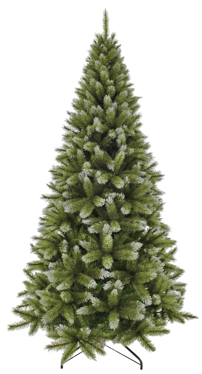 """Ель искусственная Triumph Tree """"Женева"""", цвет: зеленый, белый, высота 215 см"""