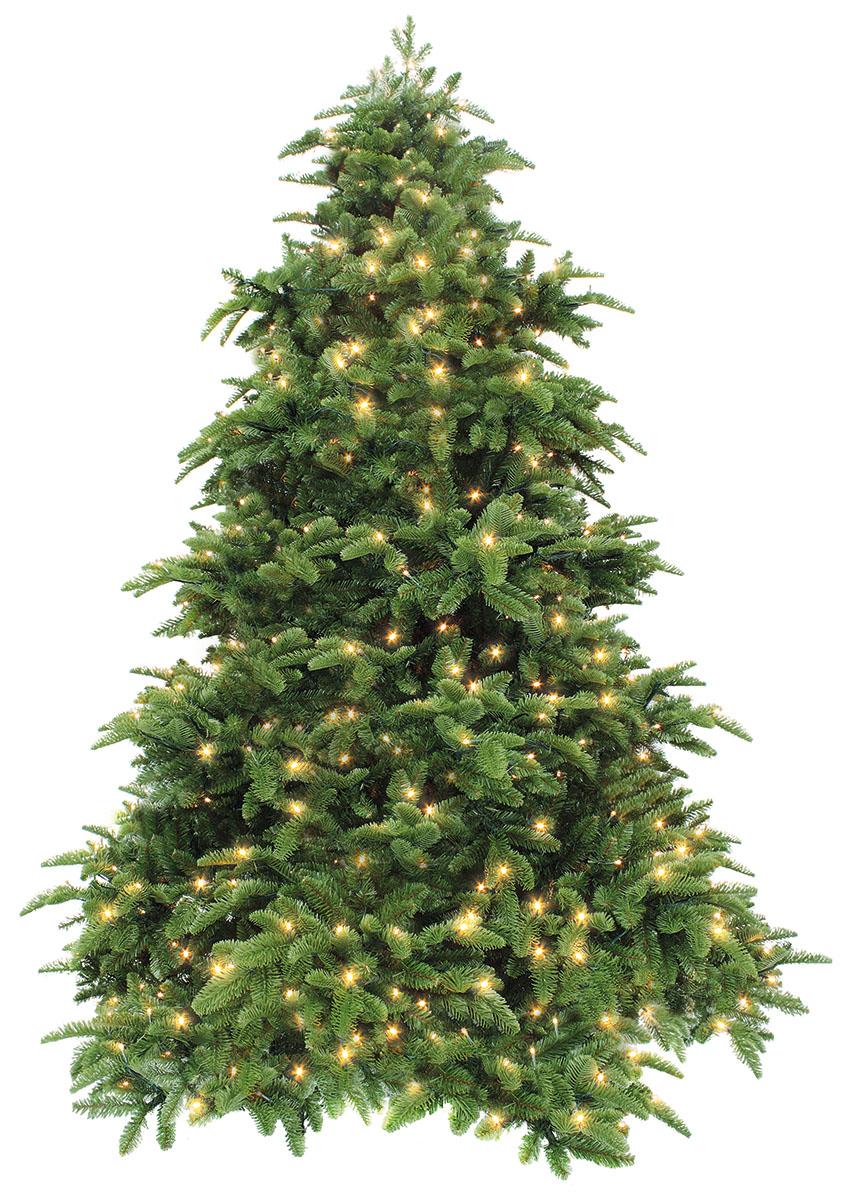 Ель искусственная Triumph Tree Нормандия с подсветкой, цвет: темно-зеленый, высота 185 см, 248 ламп73694 (389704)
