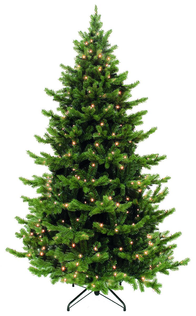 Ель искусственная Triumph Tree Шервуд Премиум с LED гирляндой, цвет: зеленый, высота 185 см, 200 ламп73714 (389916)Искусственная сосна - это прекрасный вариант для оформления интерьера к Новому году. По своей пышности веточки не уступают оригиналу. А игра нескольких оттенков зелёного создаёт впечатление, что одни иголки на дереве - свежие, недавно появившиеся, а другие держатся на ветвях с самого их появления (в точности, как это происходит в природе). Сделана хвоя излитой резины, поэтому она - приятна на ощупь и не колет пальцы, хоть на ощупь и схожа с оригиналом.Ель снабжена гирляндой, работающей от сети. Благодаря широкой подставке, дерево сохраняет равновесие даже при давлении со стороны. Инструкция в комплекте.