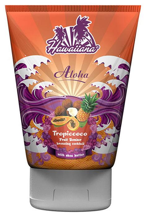 Hawaiiana Крем-коктейль для загара Aloha Tropiccoco Bronzing Cocktail, c бронзаторами, 100 мл5145Тропический крем-коктейль с бронзаторами для получения быстрого темного загара.Цитрусовый комплекс экстрактов лимона и апельсина выступает мощным антиоксидантом, улучшает регенерацию клеток, защищает кожу от свободных радикалов. Крема-коктейли содержат экстракты Алоэ вера, гавайского сахарного тростника и серебристого клена, благодаря которым Ваша кожа получает сияющий вид и бережный уход. Комплекс активаторов с тирозином позволяют получить настоящий гавайский загар! А бронзаторы еще больше усилят эффект Вашего загара.Входящее в состав масло какао глубоко увлажняет и тонизирует кожу. Ценное масло ши и витамин С питают кожу и заряжают ее энергией. Для загара на солнце или в солярии.