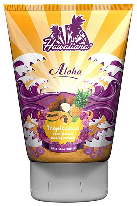 Hawaiiana Крем-коктейль для загара Aloha Tropiccoco Tanning Cocktail без бронзаторов, 100 мл5125Тропический крем-коктейль для получения быстрого базового загара. Содержит экстракты Алоэ вера, гавайского сахарного тростника и серебристого клена, благодаря которым Ваша кожа получает сияющий вид и бережный уход. Комплекс активаторов с тирозином позволяют получить настоящий гавайский загар! Входящее в состав масло какао глубоко увлажняет и тонизирует кожу. Ценное масло ши и витамин С питают кожу и заряжают ее энергией. Цитрусовый комплекс экстрактов лимона и апельсина выступает мощным антиоксидантом, улучшает регенерацию клеток, защищает кожу от свободных радикалов. Подходит для чувствительной кожи. Для загара на солнце или в солярии.