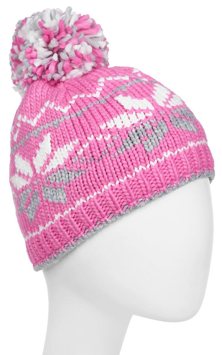 Шапка женская Luhta, цвет: розовый, серый. 838627679LV-659. Размер универсальный838627679LV-659