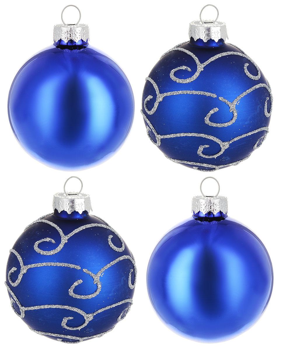 Новогоднее подвесное украшение Magic Time Шар, диаметр 6 см, 4 шт. 7670176701Новогоднее подвесное украшение Magic Time Шар изготовлено из качественного стекла. В наборе два однотонных шара и два шара с блестящим рисунком. Изделия дополнены удобной шляпкой с большой петлей.Елочная игрушка - символ Нового года. Она несет в себе волшебство и красоту праздника. Создайте в своем доме атмосферу веселья и радости, украшая всей семьей новогоднюю елку нарядными игрушками, которые будут из года в год накапливать теплоту воспоминаний.