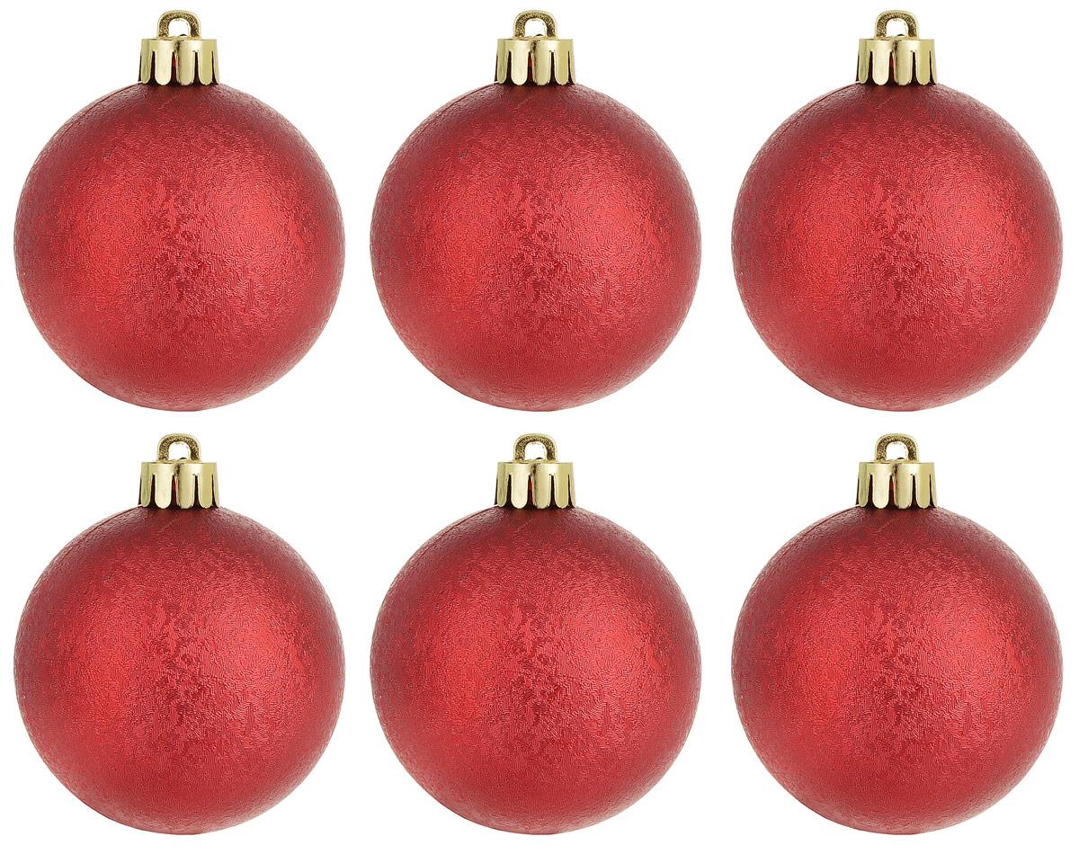 Новогоднее подвесное украшение Magic Time Шар. Зима, цвет: красный, 6 шт76010Новогоднее подвесное украшение Magic Time Шар изготовлено из качественного полистирола. Изделие представляет собой шар, декорированный рельефным рисунком. Подвешивается на елку с помощью текстильной петельки.Елочная игрушка - символ Нового года. Она несет в себе волшебство и красоту праздника. Создайте в своем доме атмосферу веселья и радости, украшая всей семьей новогоднюю елку нарядными игрушками, которые будут из года в год накапливать теплоту воспоминаний.