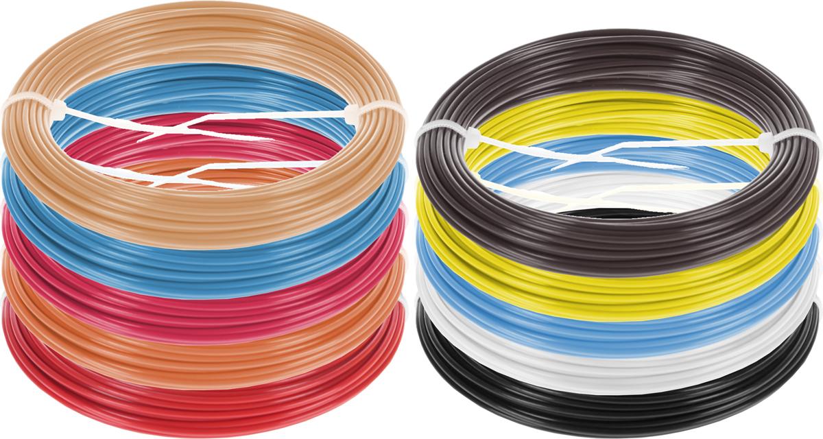Dewang пластик ABS 10 цветов по 10 м2990000001344Набор пластика ABS Dewang - это главный и единственный расходный материал, используя который вы сможете делать мыслимые и немыслимые вещи, подсказанные вашим воображением.Пластик ABS может принимать много разных полимерных форм, ему можно придавать множество самых различных свойств. Его пластичность позволяет легко создавать элементы различных соединений и крепежа.Материал легко шлифуется и обрабатывается. Важно отметить, что ABS пластик растворяется в ацетоне, что позволяет склеивать детали и добиваться очень гладкой поверхности.При плавлении может выделять легкий запах пластмассы.