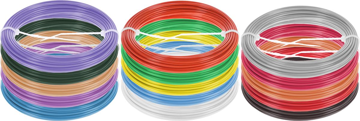 Dewang пластик ABS 15 цветов по 10 м2990000001399Набор пластика ABS Dewang - это главный и единственный расходный материал, используя который вы сможете делать мыслимые и немыслимые вещи, подсказанные вашим воображением.Пластик ABS может принимать много разных полимерных форм, ему можно придавать множество самых различных свойств. Его пластичность позволяет легко создавать элементы различных соединений и крепежа.Материал легко шлифуется и обрабатывается. Важно отметить, что ABS пластик растворяется в ацетоне, что позволяет склеивать детали и добиваться очень гладкой поверхности.При плавлении может выделять легкий запах пластмассы.