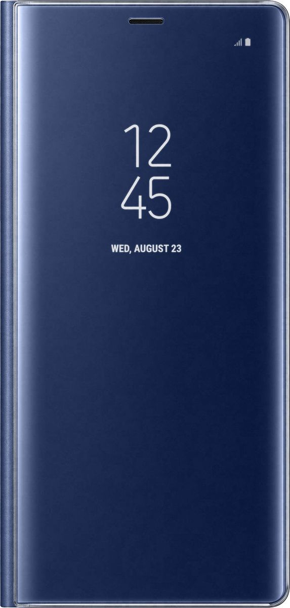 все цены на Samsung EF-ZN950 Clear View Standing Cover Great чехол-книжка для Note 8, Dark Blue онлайн