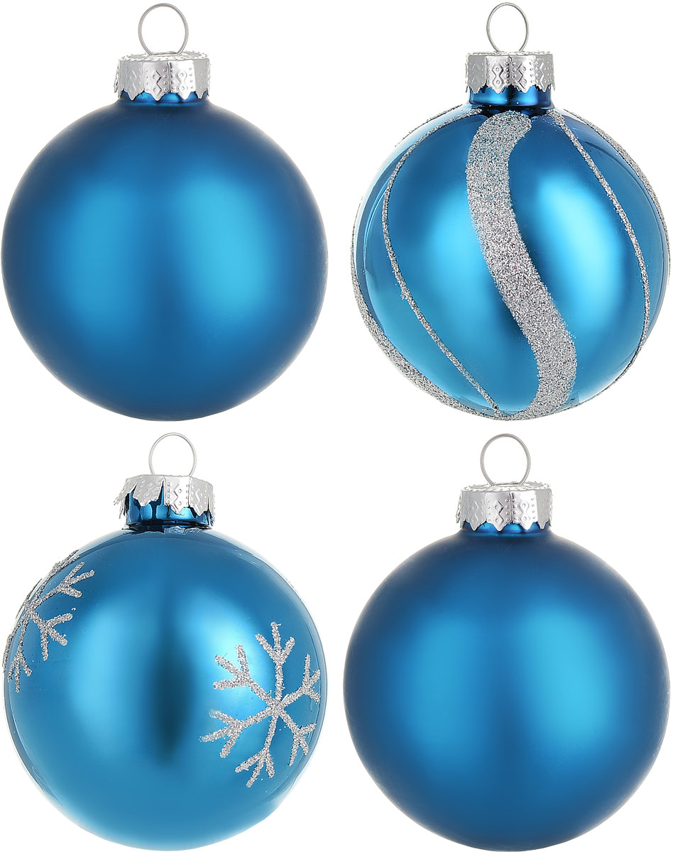 Новогоднее подвесное украшение Magic Time Шар, диаметр 6 см, 4 шт. 7670276702Новогоднее подвесное украшение Magic Time Шар изготовлено из качественного стекла. В наборе два однотонных шара и два шара с блестящим рисунком. Изделия дополнены удобной шляпкой с большой петлей.Елочная игрушка - символ Нового года. Она несет в себе волшебство и красоту праздника. Создайте в своем доме атмосферу веселья и радости, украшая всей семьей новогоднюю елку нарядными игрушками, которые будут из года в год накапливать теплоту воспоминаний.