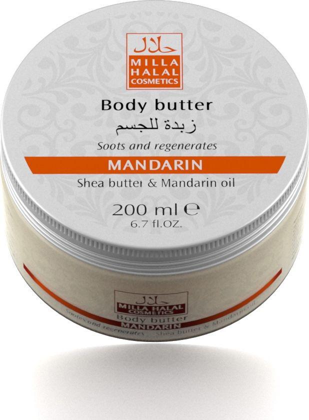 Milla Halal Cosmetics Масло для тела Mandarin, 200 мл10789Косметическое средство на основе натуральных растительных масел Ши (Карите) и Мандарина смягчает кожу, питает и делает её упругой. Обладает регенерирующими свойствами: заживляет мелкие ранки, восстанавливает структуру эпителия на клеточном уровне; оказывает лифтинговый эффект. Благодаря уникальному составу данный продукт защищает кожу от внешних негативных воздействий. Подходит для всех типов кожи.