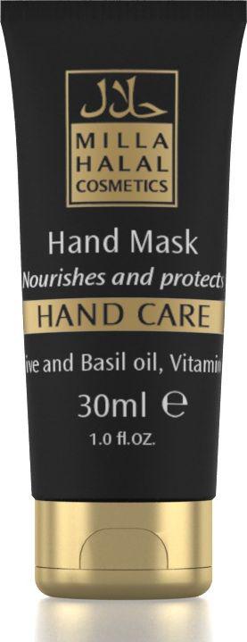 Milla Halal Cosmetics Маска для рук Hand Care, 30 мл11147Питает, увлажняет и защищает кожу от вредных воздействий внешней среды. Обладает антивозрастным эффектом. Состав косметического средства чрезвычайно богат питательными веществами. Содержит масла базилика, оливы, моркови, абрикоса, ши (карите), экстракт зверобоя и молочко оливы. Маска обогащена витаминами F и C, а также линолевой и линоленовой кислотами, с сильнейшими защитными, увлажняющими и омолаживающими функциями.
