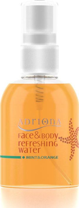 Adriona Освежающий спрей для лица и тела Апельсин, 60 мл9302Спрей освежающий для лица и тела «Апельсин» восстанавливает естественный гидробаланс и стимулирует природную способность кожи удерживать влагу. Аромат апельсина улучшает настроение.