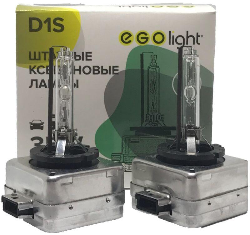 Лампа автомобильная ксеноновая Egolight, для фар, цоколь D1S, 4300 К, 35 Вт, 2 шт1600000110014Автолампа ксеноновая Egolight предназначена для установки в головной свет автомобиля с родным цоколем D2S. Лампа автомобильная подходит для ближнего и дальнего освещения. Мощность: 35 Вт. Тип цоколя: D1S. Свет: теплый.