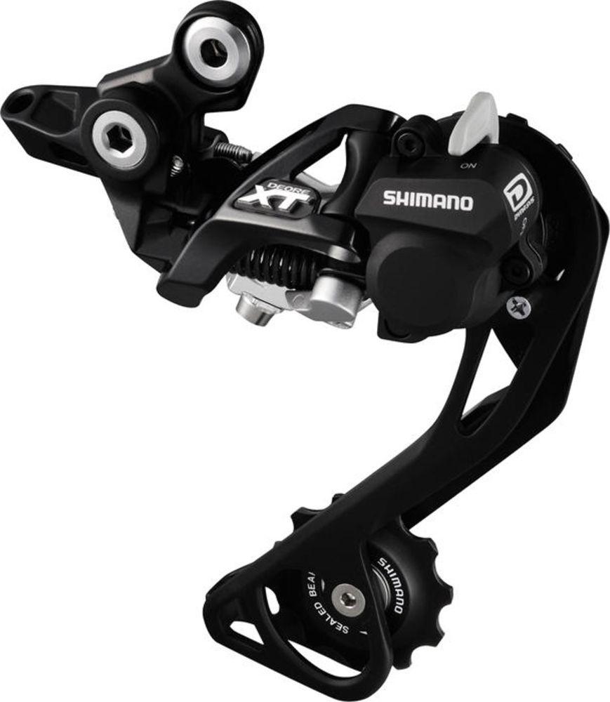 Переключатель задний Shimano  XT M786 , 10 скоростей, RD+, SGS, цвет: черный - Велосипеды и аксессуары
