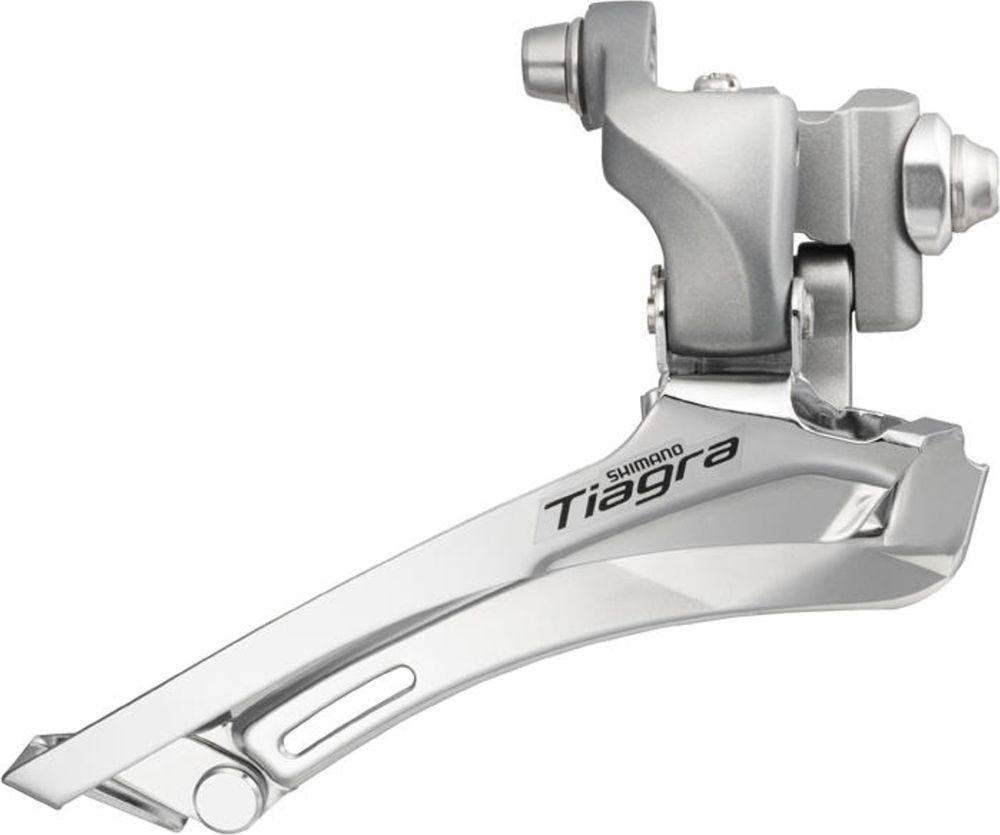 Переключатель передний Shimano Tiagra 4600, на упор, 2 x 10 скоростей переключатель передний велосипедный shimano claris 2403 3x8 скоростей на упор efd2403f page 9
