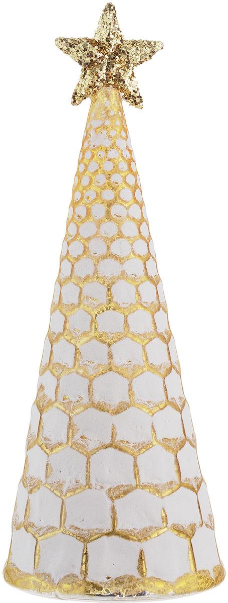 Фигурка декоративная Magic Time Елочка с золотом, с подсветкой, высота 21 см. 75854 фигурка декоративная собачка 8 х 8 х 13 см