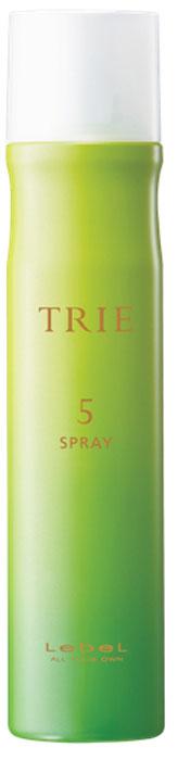 Lebel Trie Spray 5 Спрей-воск легкой фиксации, 170 г124312Спрей-воск легкой фиксации позволяет создать эффект бархатистых, мягких, послушных волос. Дисциплинирует волосы (плетения, сложные прически), позволяет создать текстурированные мягкие локоны (стайлер, голливудская волна). Текстурирует локоны как финишный продукт. Обладает фиксирующими свойствами воска, легко дозируется, удобен в применении. Придает волосам и укладке аккуратный и выглаженный эффект. Не накапливается в волосах, легко смывается. SPF 15.