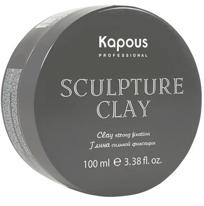 Kapous Professional Sculpture Clay Глина для укладки волос нормальной фиксации, 100 млkap1251Глина Капус идеально подходит для создания стильных, креативных причесок с матовым эффектом. Позволяет формировать любую форму прически на коротких и средней длины волосах, выделять акценты и текстуру. Благодаря натуральным воскам, глина способствует восстановлению структуры волос с питанием и увлажнением.Не создает эффекта мокрых волос.
