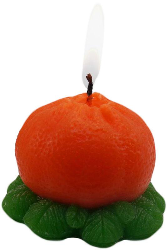 Свеча декоративная Sima-land Мандаринка, цвет: оранжевый, высота 4,8 см1182212Долгожданная новогодняя ночь - время волшебства, новых надежд и ярких эмоций. Превратить эту ночь в сказку могут тысячи огоньков от гирлянд, мишура, блестящие елочные игрушки, но главное - это свечи на праздничном столе.Мягкий теплый свет свечи Sima-land придает всему очаровательные магические очертания. В такие моменты загораются глаза, а сердца наполняются радостью.