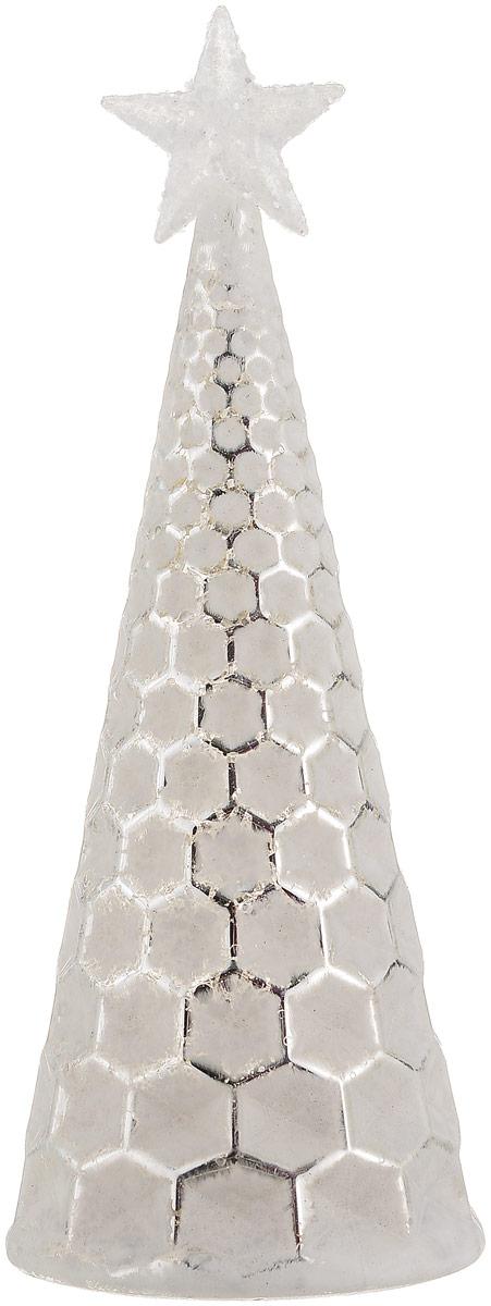 Фигурка декоративная Magic Time Елочка с серебром, с подсветкой, высота 21 см. 7585275852Декоративная фигурка Magic Time Елочка с серебром, выполненная из стекла, станет оригинальным подарком для всех любителей необычных вещей. Изделие работает от батареек типа CR2032. Изысканный сувенир станет прекрасным дополнением к интерьеру. Вы можете поставить фигурку в любом месте, где она будет удачно смотреться и радовать глаз.Размер фигурки: 8 х 8 х 21 см.