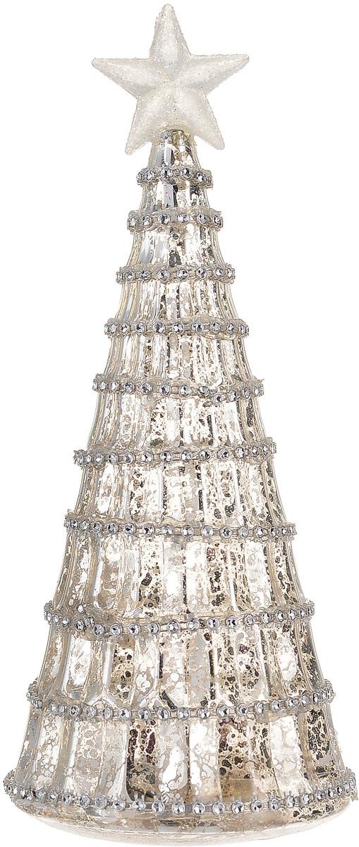 Фигурка декоративная Magic Time Елочка золотая, с подсветкой, высота 21 см. 7585675856Декоративная фигурка Magic Time Елочка золотая, выполненная из стекла, станет оригинальным подарком для всех любителей необычных вещей. Изделие работает от батареек типа CR2032. Изысканный сувенир станет прекрасным дополнением к интерьеру. Вы можете поставить фигурку в любом месте, где она будет удачно смотреться и радовать глаз.Размер фигурки: 8,5 х 8,5 х 21 см.