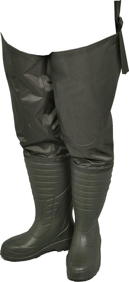 Сапоги для рыбалки мужские Nordman Expert, цвет: оливковый. ПЕ 22 РН. Размер 43/44ПЕ 22 РНСапоги забродные Nordman Expert предназначены для демисезонной и летней рыбалки.Базовый сапог выполнен из ЭВА с усиленной ТЭП подошвой. Верх выполнен из легкой и прочной нейлоновой ткани. Двойная проклейка шва гарантированно защищает обувь от протечек.Уникальность данной модели рыбацких сапог из нейлона заключается в том, что в них комфортно и тепло ловить рыбу в холодной воде в весенне-осенний период, поскольку базовый сапог выполнен из нового современного материала ЭВА, который отличается: -низкой теплопроводностью, - высокими теплоизоляционными и амортизирующими свойствами. Помимо этого сапоги гораздо легче аналогов из ПВХ, ведь базовый сапог из ЭВА обладает удивительной легкостью, а текстильный верх модели выполнен из нейлона, который обладает большей легкостью, прочностью и износостойкостью по сравнению с ПВХ. Также следует отметить, что модель полностью водонепроницаема. Дополнительно изнутри текстильной надставки применяется технология двойного шва, которая придает обуви еще большую прочность, износостойкость и герметичность.