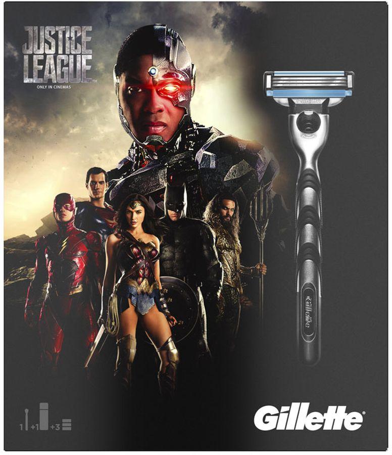 Gillette Mach3 Бритва Подарочный Набор + 2 Сменные кассеты + Гель Для Бритья gillette гель для бритья успокаивающий mach3 200 мл