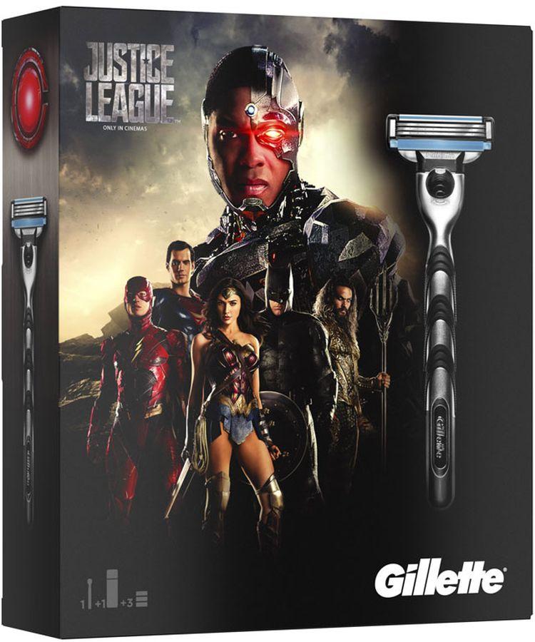 Gillette Mach3Бритва Подарочный Набор + 2 Сменные кассеты + Гель Для Бритья Gillette