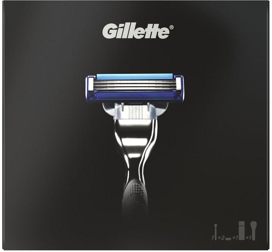 Gillette Mach3 Turbo Бритва Подарочный Набор + 2 Кассеты + Гель для бритья