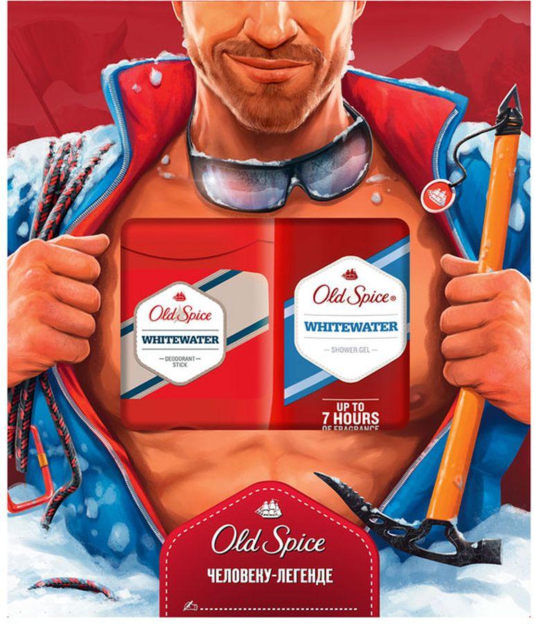Подарочный Набор Old Spice Whitewater твердый дезодорант, 50 мл + гель для душа, 250 мл
