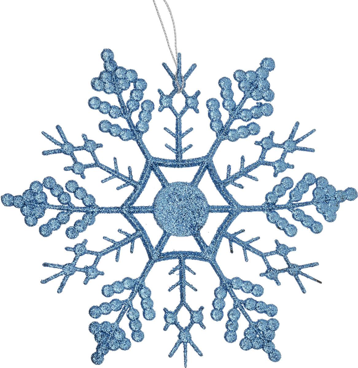 Украшение новогоднее подвесное Magic Time Снежинка-паутинка, цвет: голубой, 16,5 х 16,5 см. 7509875098Новогоднее украшение Magic Time Снежинка-паутинка отлично подойдет для декорации вашего дома и новогодней ели. Украшение выполнено из высококачественного пластика и оформлено блестками. Изделие оснащено текстильной петелькой, с помощью которой его можно повесить в любом понравившемся вам месте. Елочная игрушка - символ Нового года. Она несет в себе волшебство и красоту праздника. Создайте в своем доме атмосферу веселья и радости, украшая всей семьей новогоднюю елку нарядными игрушками, которые будут из года в год накапливать теплоту воспоминаний.