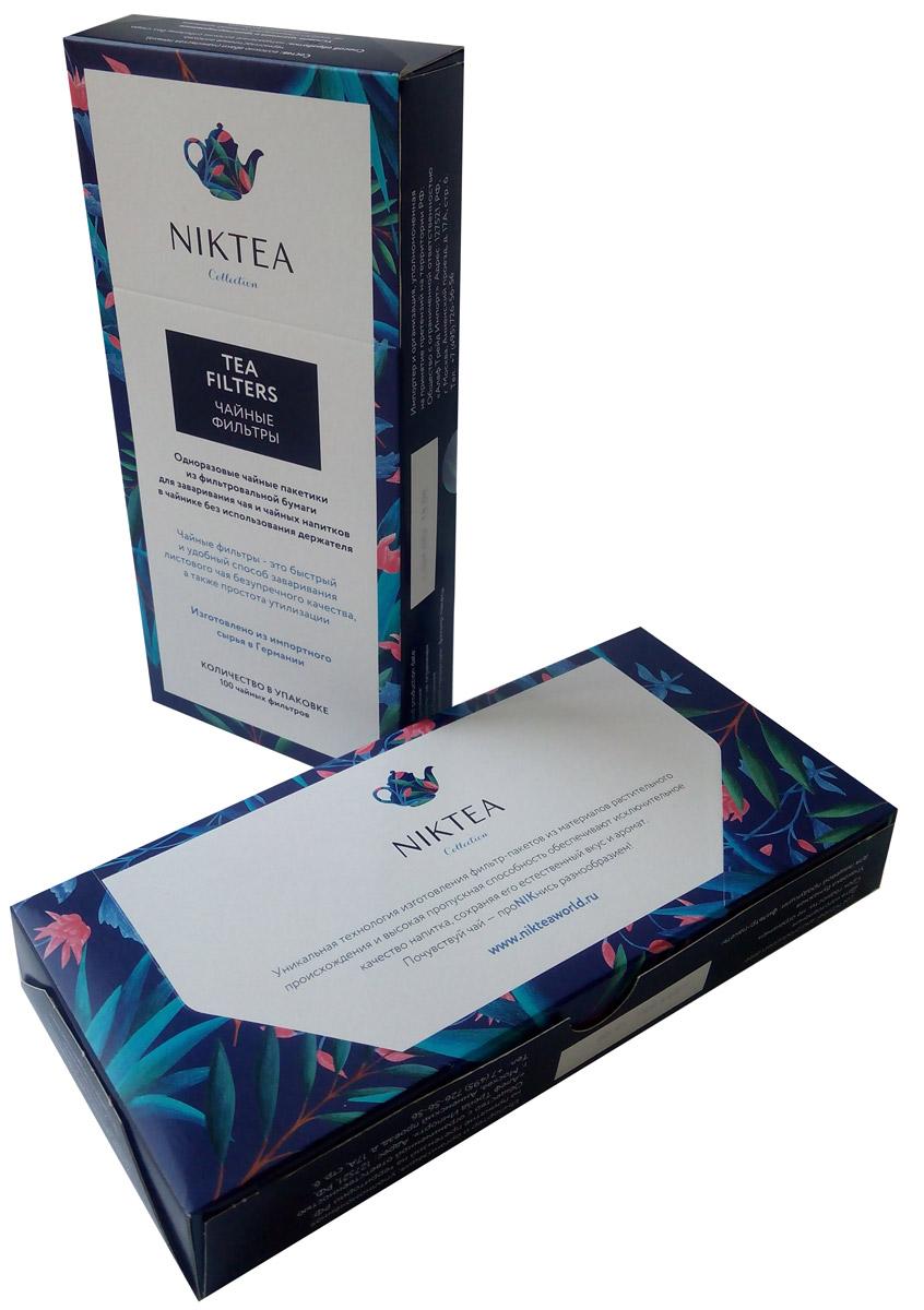 Niktea фильтр-пакеты для заваривания чая, 100 шт упаковка фильтр пакеты чайные в екатеринбурге