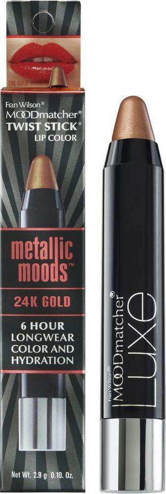 Moodmatcher Металлизированная помада-стик MetallicMoods 24K Gold Twist Stick, тон Золото, 2,9 г01902000Тренд года - металлизированный эффект на губах! В исполнении помады-стика он получается безупречным, т. к. сохраняется на губах до 6 часов! Используй макияж губ в стиле метал в своих ярких образах - повседневных и праздничных. Многогранное сияние цвета оттенит улыбку, интенсивность оттенка добавит выразительности, металлизированный финиш поможет заявить о себе! Помада мгновенно и точно наносится, текстура с ухаживающим составом обеспечивает комфорт и здоровье кожи губ.Какая губная помада лучше. Статья OZON Гид