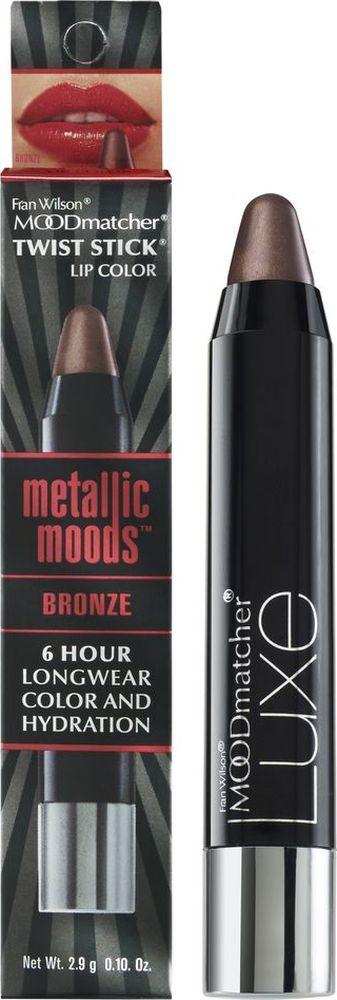 Moodmatcher Металлизированная помада-стик MetallicMoods Bronze Twist Stick, тон Бронза, 2,9 г01904000Тренд года - металлизированный эффект на губах! В исполнении помады-стика он получается безупречным, т. к. сохраняется на губах до 6 часов! Используй макияж губ в стиле метал в своих ярких образах - повседневных и праздничных. Многогранное сияние цвета оттенит улыбку, интенсивность оттенка добавит выразительности, металлизированный финиш поможет заявить о себе! Помада мгновенно и точно наносится, текстура с ухаживающим составом обеспечивает комфорт и здоровье кожи губ.