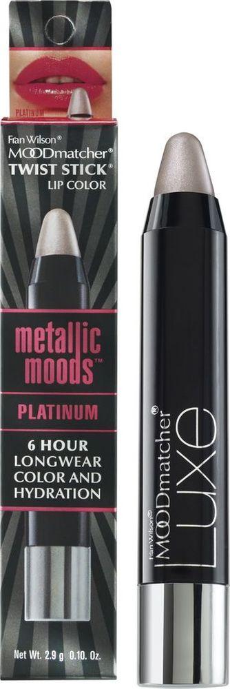 Moodmatcher Металлизированная помада-стик MetallicMoods Platinum Twist Stick, тон Платина, 2,9 г01906000Тренд года - металлизированный эффект на губах! В исполнении помады-стика он получается безупречным, т. к. сохраняется на губах до 6 часов! Используй макияж губ в стиле метал в своих ярких образах - повседневных и праздничных. Многогранное сияние цвета оттенит улыбку, интенсивность оттенка добавит выразительности, металлизированный финиш поможет заявить о себе! Помада мгновенно и точно наносится, текстура с ухаживающим составом обеспечивает комфорт и здоровье кожи губ.