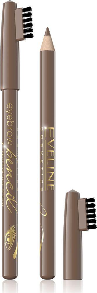 Eveline Контурный карандаш для бровей - светлый коричневый Eyebrow pencil