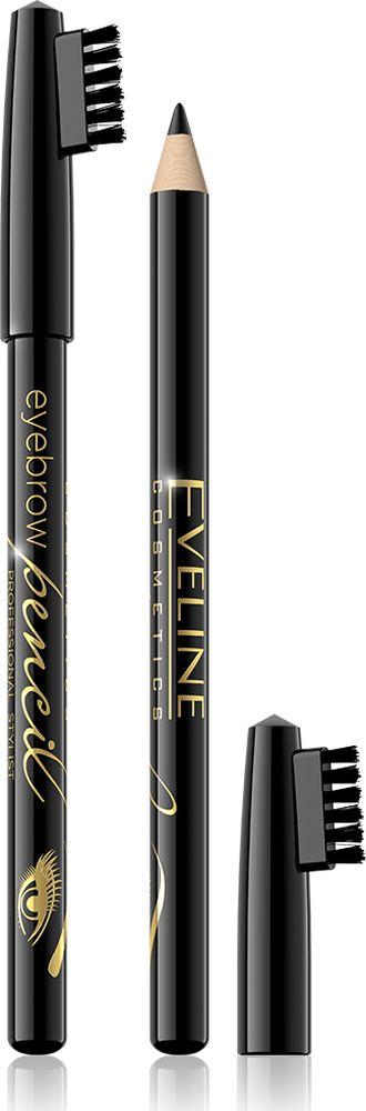 Eveline Контурный карандаш для бровей - черный Eyebrow pencilLMKKBRWICZПри помощи карандаша для бровей можно легко придать бровям желанную форму и подчеркнуть красоту взгляда. В зависимости от силы нажима можно легко подчеркнуть линию бровей, либо придать им модные графичные очертания. Соответствующий уровень мягкости и нежная консистенция карандаша делает аппликацию очень удобной, благодаря чему легко можно сделать брови более густыми и придать им нужный оттенок, а с помощью встроенной щеточки, очень просто придать бровям нужную форму, уложить непослушные волоски и избавиться от излишков продукта. Способ применения: карандашом накрасить брови