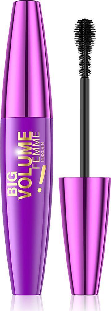 Eveline Тушь для ресниц Big Volume Femme, 10 мл туши divage тушь для ресниц с эффектом накладных ресниц false lashes тон 4301