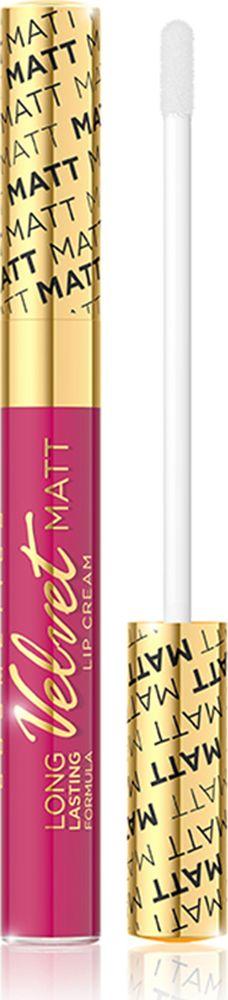 Eveline Жидкая губная помада №411 Velvet matt, 9 млLBL9KIS411Помада обогащена комплексов витамин A, E и F, который эффективно ухаживает за нежной кожей губ и гарантирует ее оптимальный уровень увлажнения. Помада имеет легкую нелипкую консистенцию, которая дает чувство комфорта в повседневном использовании, а также аппетитный аромат клюквы. Невероятно нежная формула помады обеспечивает максимальный комфорт и непревзойденную стойкость макияжа губ! Способ применения: нанести на губы