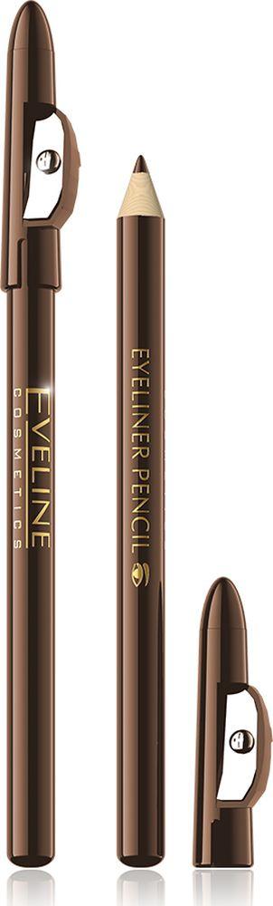 Eveline Контурный карандаш для глаз коричневый Eyeliner pencilLMKKBROWNKRБлагодаря инновационной формуле, основанной на минеральных пигментах, контурный карандаш обладает идеальной текстурой, которая гарантирует легкость нанесения и ультрастойкость. Способ применения: провести карандашом тонкую линию по краю века.