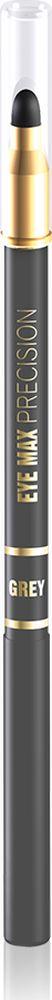 """Eveline Карандаш для глаз серый eye Max precisionLMKKEYEMASZ2Современный автоматический карандаш с удобным аппликатором-спонжем помогает создать удивительно точные, изящные линии, которые подчеркивают и визуально увеличивают глаза, а также идеально подходит для создания """"дымчатого"""" макияжа. Карандаш имеет кремообразную текстуру, благодаря чему наносится мягко и без усилий, не раздражает и не сушит чувствительную кожу вокруг глаз, а специальный латексный аппликатор мягко растушевывает линии, создавая плавность в переходе тонов. Способ применения: провести карандашом тонкую линию по краю века."""