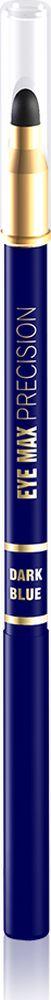 """Eveline Карандаш для глаз синий eye Max precisionLMKKEYEMAG2Современный автоматический карандаш с удобным аппликатором-спонжем помогает создать удивительно точные, изящные линии, которые подчеркивают и визуально увеличивают глаза, а также идеально подходит для создания """"дымчатого"""" макияжа. Карандаш имеет кремообразную текстуру, благодаря чему наносится мягко и без усилий, не раздражает и не сушит чувствительную кожу вокруг глаз, а специальный латексный аппликатор мягко растушевывает линии, создавая плавность в переходе тонов. Способ применения: провести карандашом тонкую линию по краю века."""