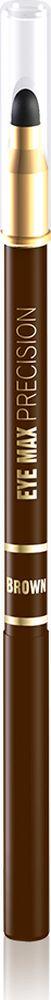 """Eveline Карандаш для глаз коричневый eye Max precisionLMKKEYEMABR2Современный автоматический карандаш с удобным аппликатором-спонжем помогает создать удивительно точные, изящные линии, которые подчеркивают и визуально увеличивают глаза, а также идеально подходит для создания """"дымчатого"""" макияжа. Карандаш имеет кремообразную текстуру, благодаря чему наносится мягко и без усилий, не раздражает и не сушит чувствительную кожу вокруг глаз, а специальный латексный аппликатор мягко растушевывает линии, создавая плавность в переходе тонов. Способ применения: провести карандашом тонкую линию по краю века."""