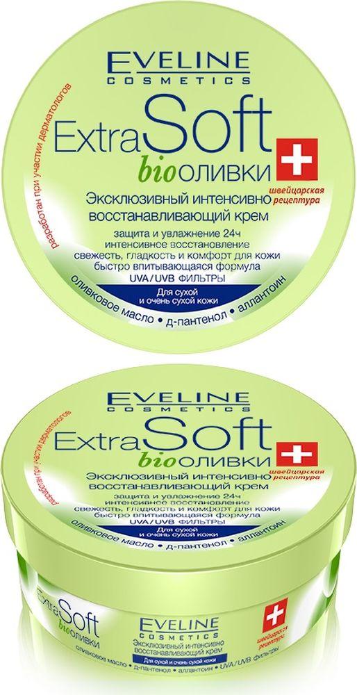 Eveline Эксклюзивный интенсивно восстанавливающий крем Extra soft - Bioоливки, 200 мл комплекс для ногтей eveline бриллиантовый восстанавливающий
