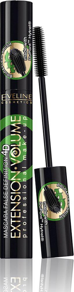Eveline Тушь для ресниц - экстремальная длина и изгиб х10 Extension Volume Professional make-up, 10 млLTUEXTWPNВ состав туши входят натуральный пчелиный воск, парафин, стеариновая кислота. Тушь с неотразимым эффектом накладных ресниц. Основа успеха - силиконовая щеточка BOLD&FLEXY BRUSH, созданная с использованием инновационной технологии DuPoint Hytrel, которая в одно мгновение придаст твоим ресницам непревзойденную длину и обворожительный изгиб, не оставляя на них ни единого комочка. Инновационная эргономичная конструкция щеточки гарантирует превосходное разделение ресниц, позволяет прокрасить тушью каждую ресничку с точностью лазера.