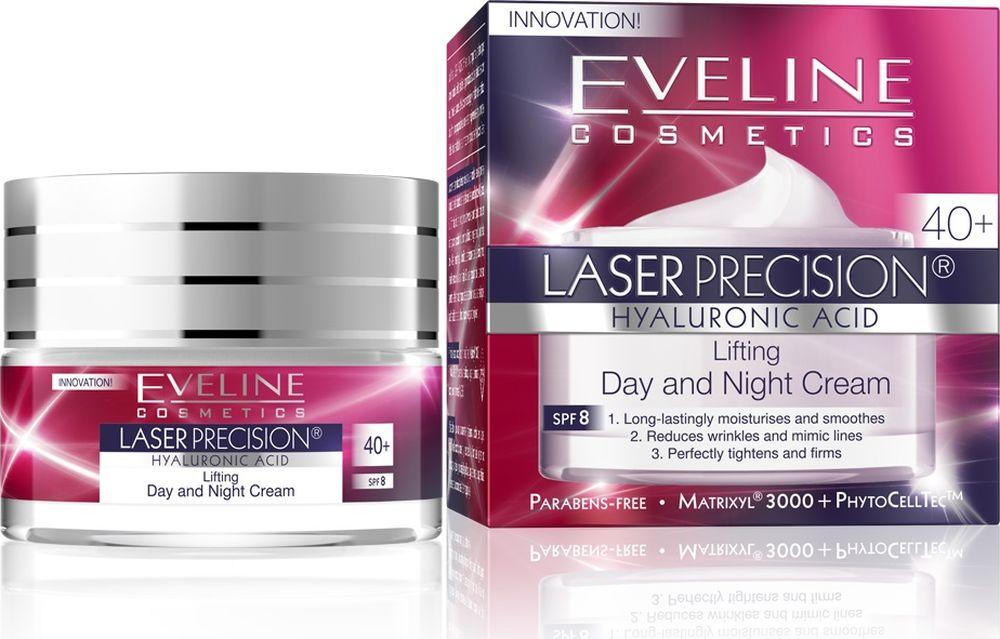 Eveline Интенсивно укрепляющий крем-концентрат дневной и ночной 40+ Laser Precision, 50 млC50LPDN40Гиалуроновая кислота интенсивно увлажняет и разглаживает кожу, возвращая ей упругость и эластичность. Моделирует овал лица. MatrixylSynthe6TM заполняет глубокие морщины и придает коже плотность. PhytoCellTec растительные стволовые клетки увеличивают жизненный цикл стволовых клеток кожи. CentellaAsiaticaукрепляет стенки кровеносных сосудов, регулирует микроциркуляцию. Усиливает синтез коллагена и гиалуроновой кислоты, приостанавливая процессы старения; интенсивно регенерирует. Водоросли ламинария обладают ревитализирующим и увлажняющим действием. Усиливают синтез коллагена, улучшают эластичность. Способ применения: ежедневно утром и вечером легкими массирующими движениями наносить крем на чистую кожу лица, шеи и декольте.